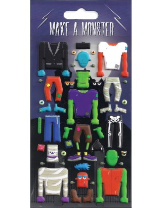 Make a Monster Kidscraft Stickers