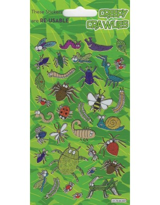 Creepy Crawlies Sparkle Stickers