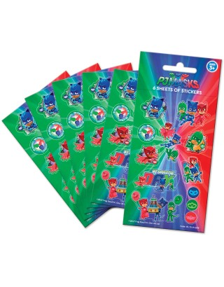 PJ Masks Party Sticker Pack - 6 sheets