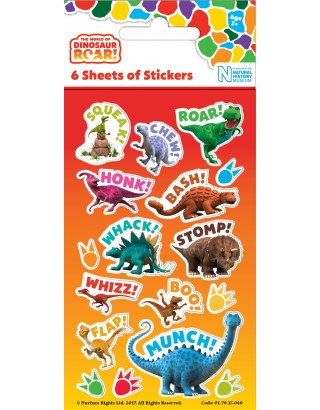 Dinosaur Roar Party Sticker Pack - 6 sheets