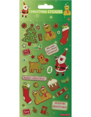 Christmas Greetings Large Foiled Sticker Pack