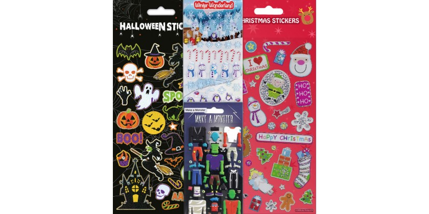 Coming soon - Halloween and Christmas Stickers