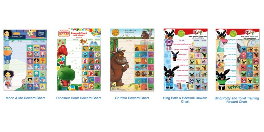 NEW - REWARD Charts in stock now!
